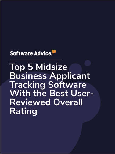 Top 5 Midsize Business Applicant Tracking Software With the Best User-Reviewed Overall Rating