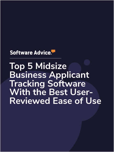 Top 5 Midsize Business Applicant Tracking Software With the Best User-Reviewed Ease of Use