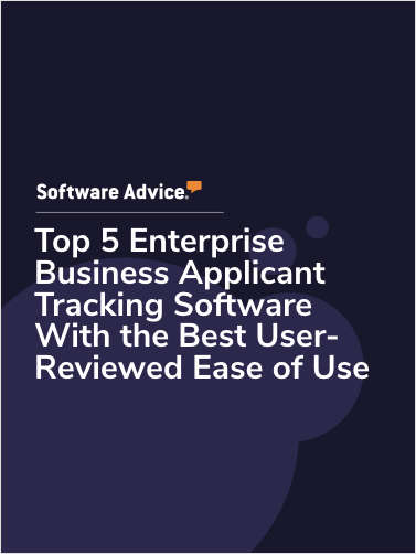 Top 5 Enterprise Business Applicant Tracking Software With the Best User-Reviewed Ease of Use