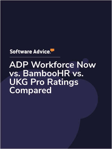 ADP Workforce Now vs. BambooHR vs. UKG Pro Ratings Compared