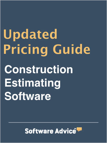 Compare Construction Estimating  Software Pricing: Software Advice's 2019 Guide