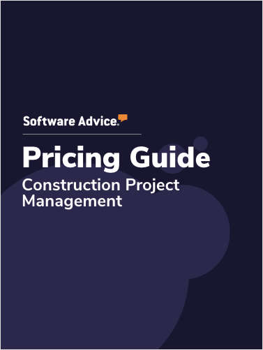 Updated Construction Project Management Software Pricing Guide from Software Advice