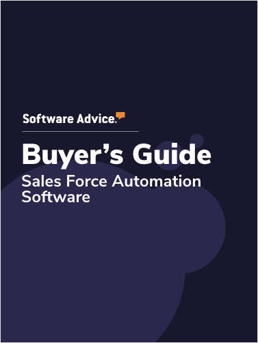 Software Advice's Guide to Buying Sales Force Automation Software in 2019