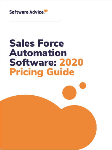 Updated Sales Force Automation Software Pricing Guide from Software Advice