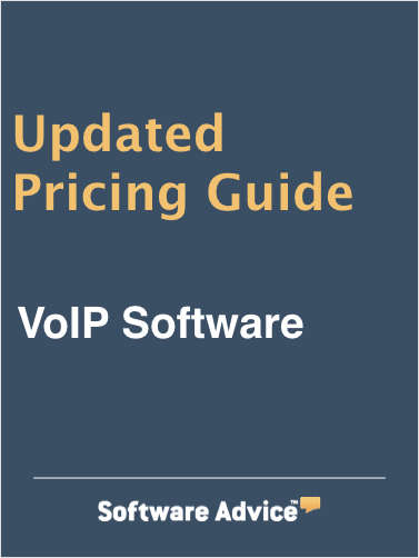 Updated VoIP Software Pricing Guide from Software Advice