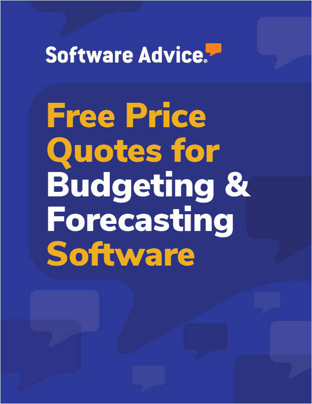 Get Free Budgeting and Forecasting Software Price Quotes!
