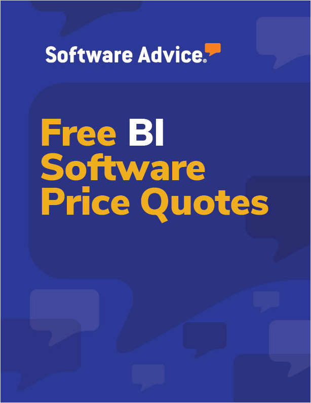 Get Free Business Intelligence Software Price Quotes!