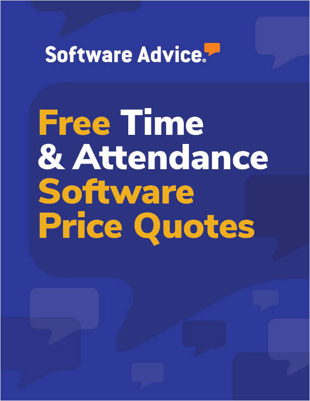 Get Free Time and Attendance Software Price Quotes!