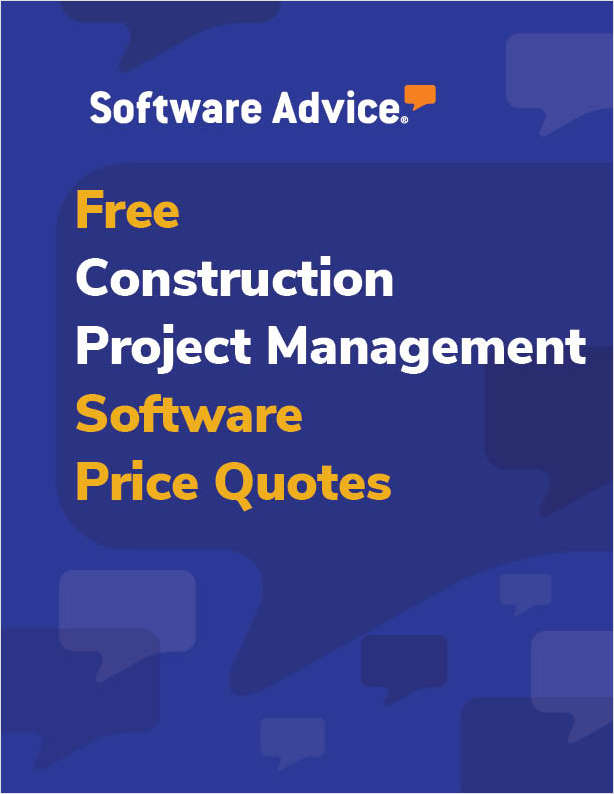 Get Free Construction Project Management Software Price Quotes!