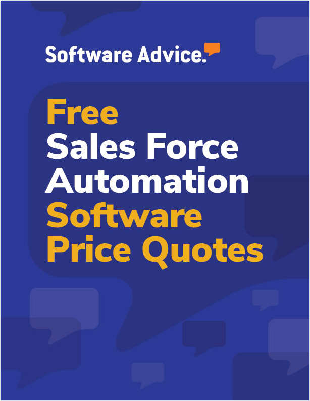Get Free Sales Force Automation Software Price Quotes!