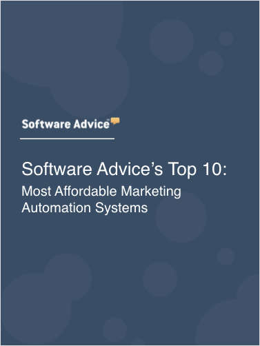 Software Advice's Top 10: Most Affordable Marketing Automation Systems