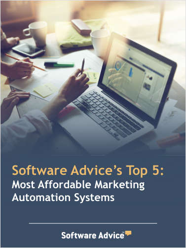 Software Advice's Top 5: Most Affordable Marketing Automation Systems