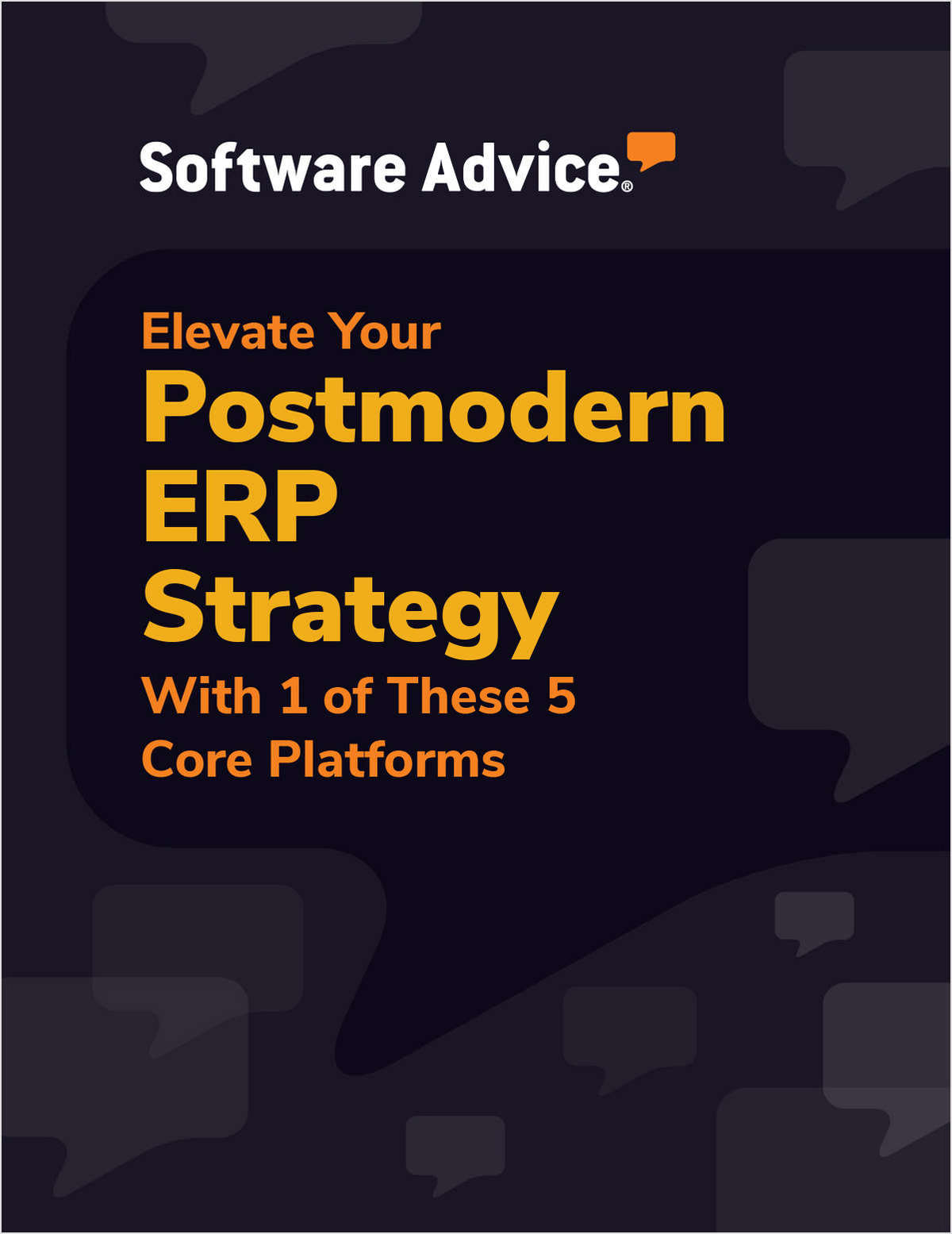 Elevate Your Postmodern ERP Strategy With 1 of These 5 Core Platforms