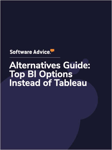 Software Advice Alternatives Guide: 5 Top BI Options Instead of Tableau