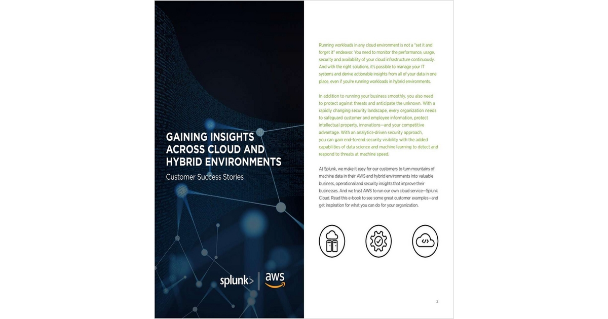 Gaining Insights Across Cloud and Hybrid Environments, Free
