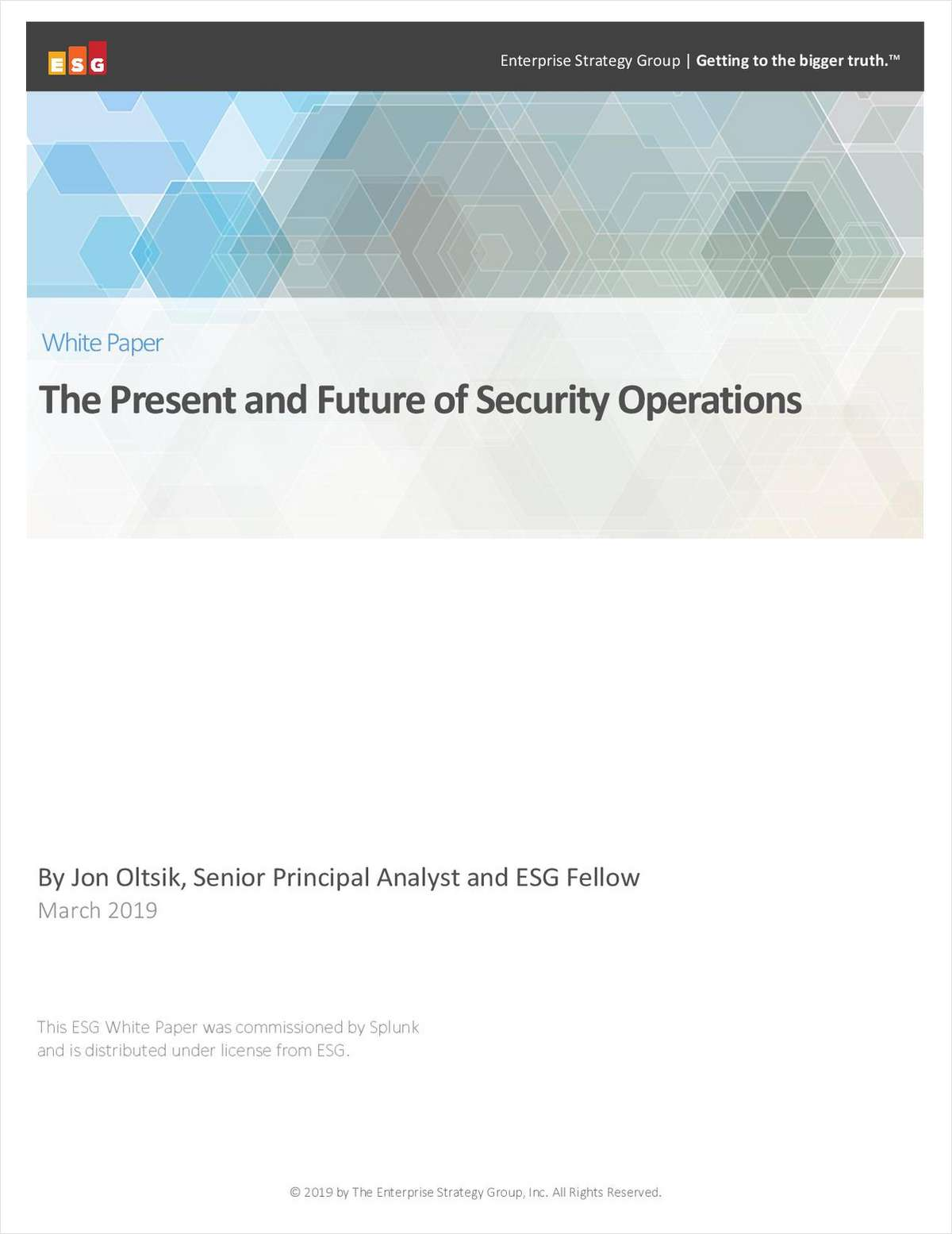 The Present and Future of Security Operations