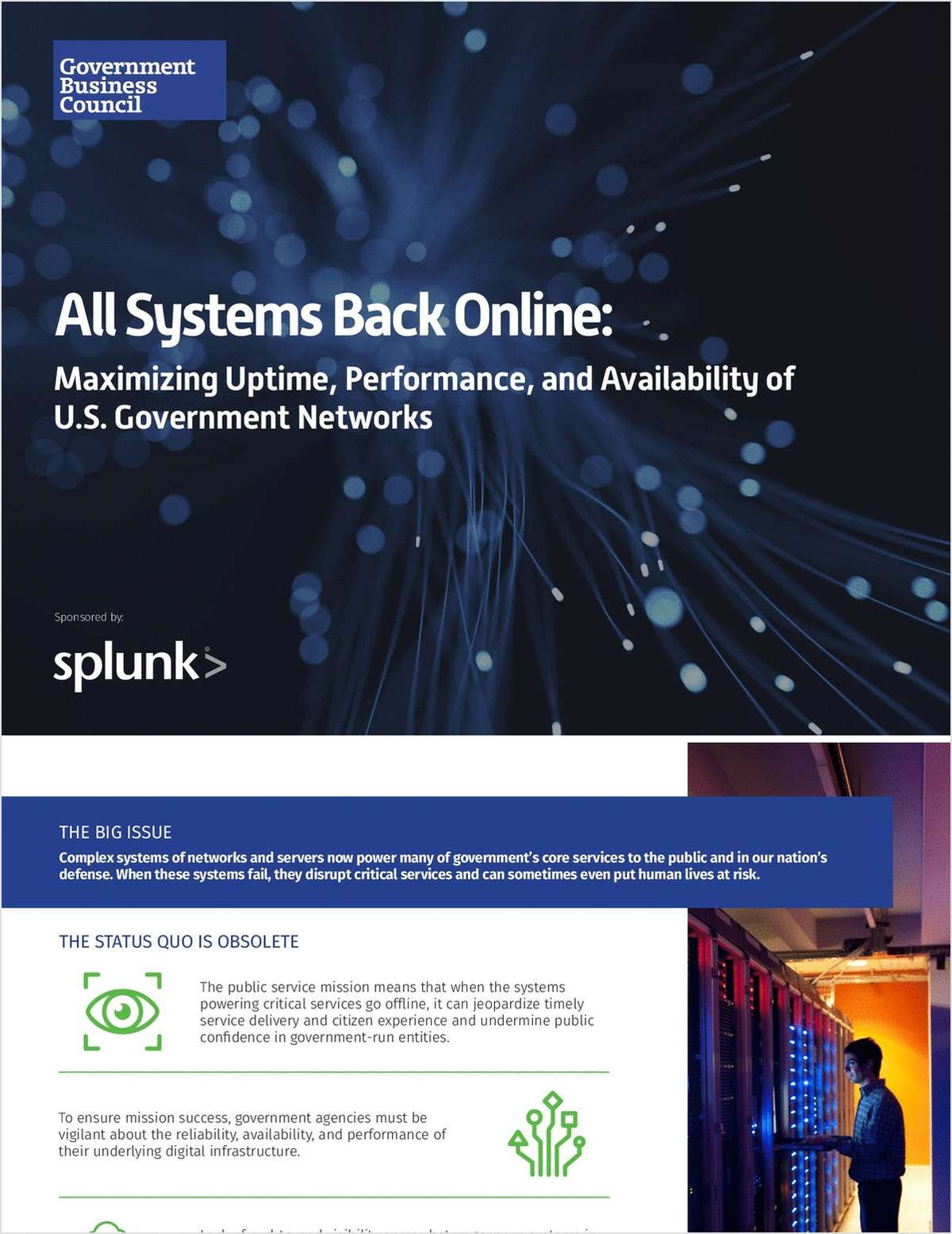 All Systems Back Online: Maximizing Uptime, Performance, and Availability of U.S. Government Networks