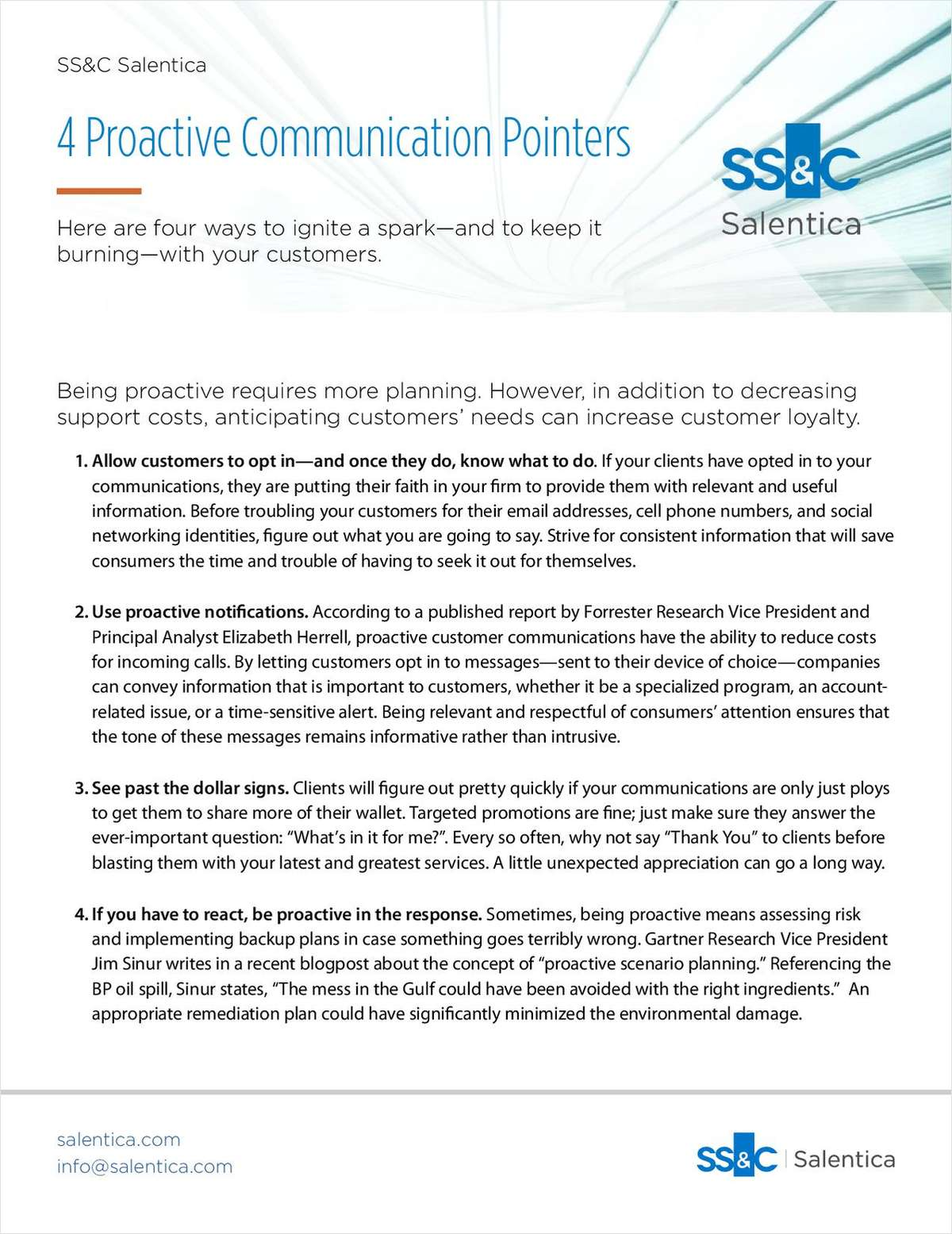4 Proactive Communication Pointers