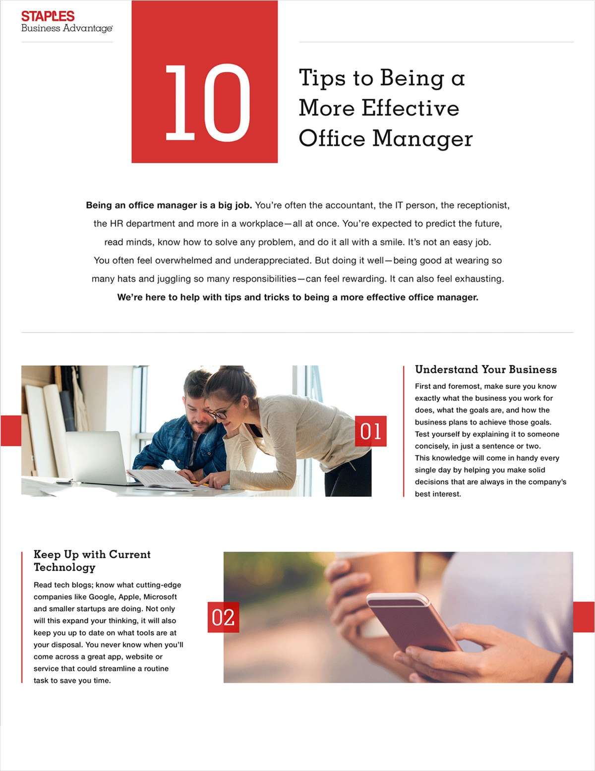 Ten Tips for Office Managers