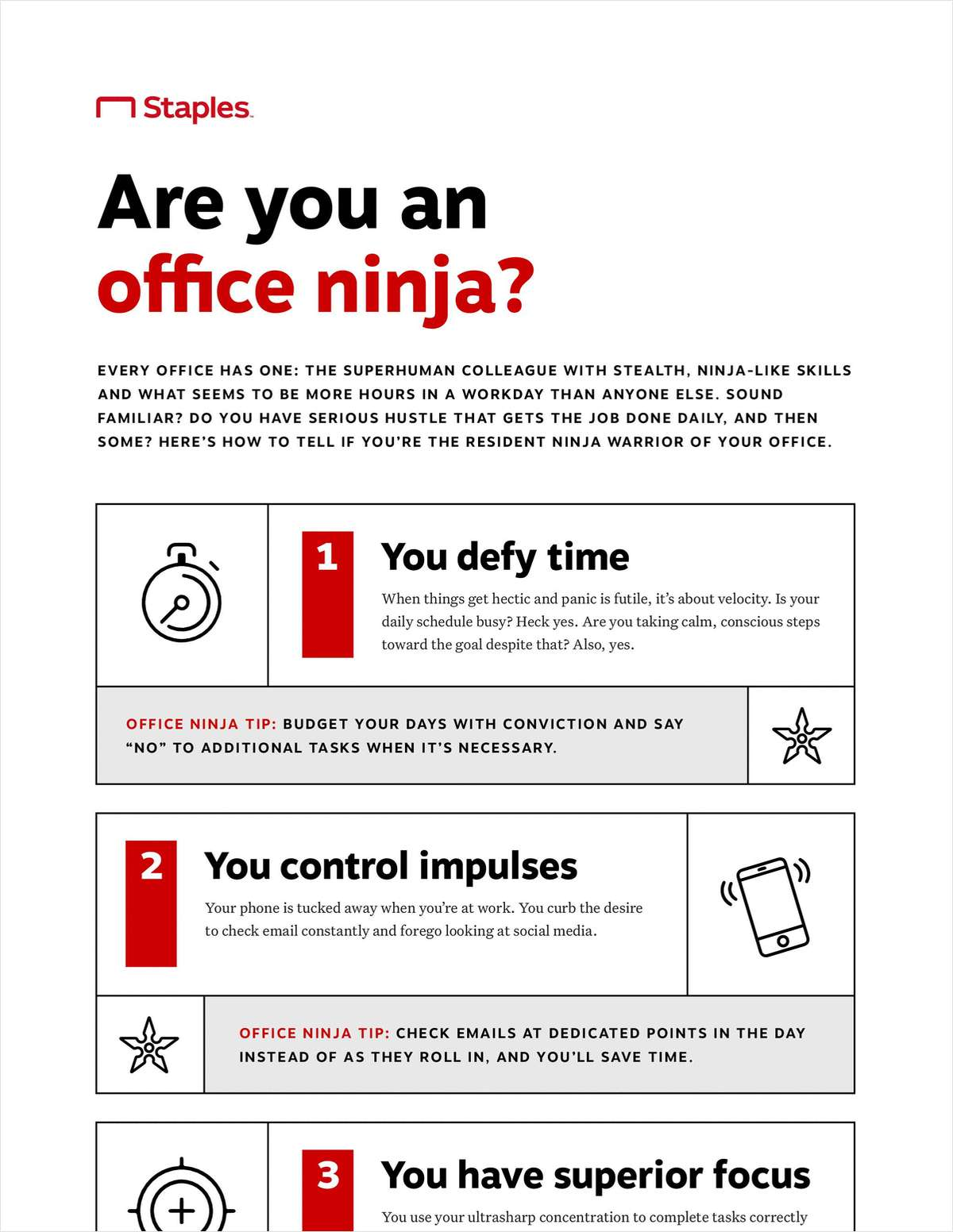 How to Be an Office Ninja