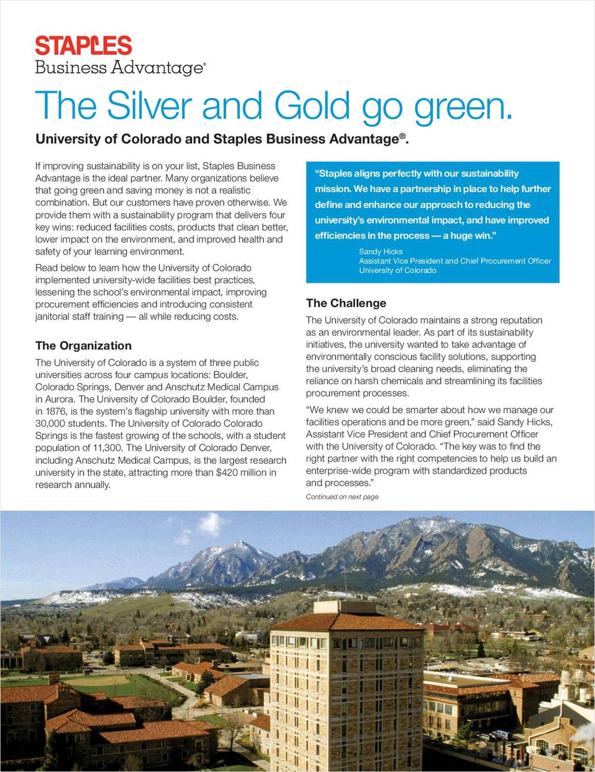 The Silver and Gold Go Green