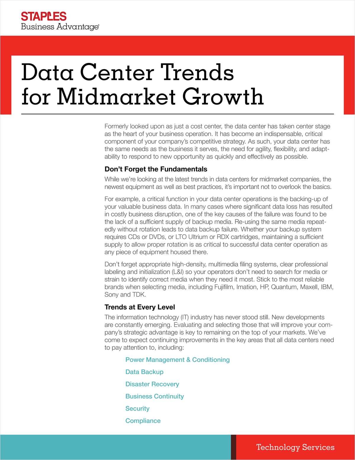 Data Center Trends for Midmarket Growth