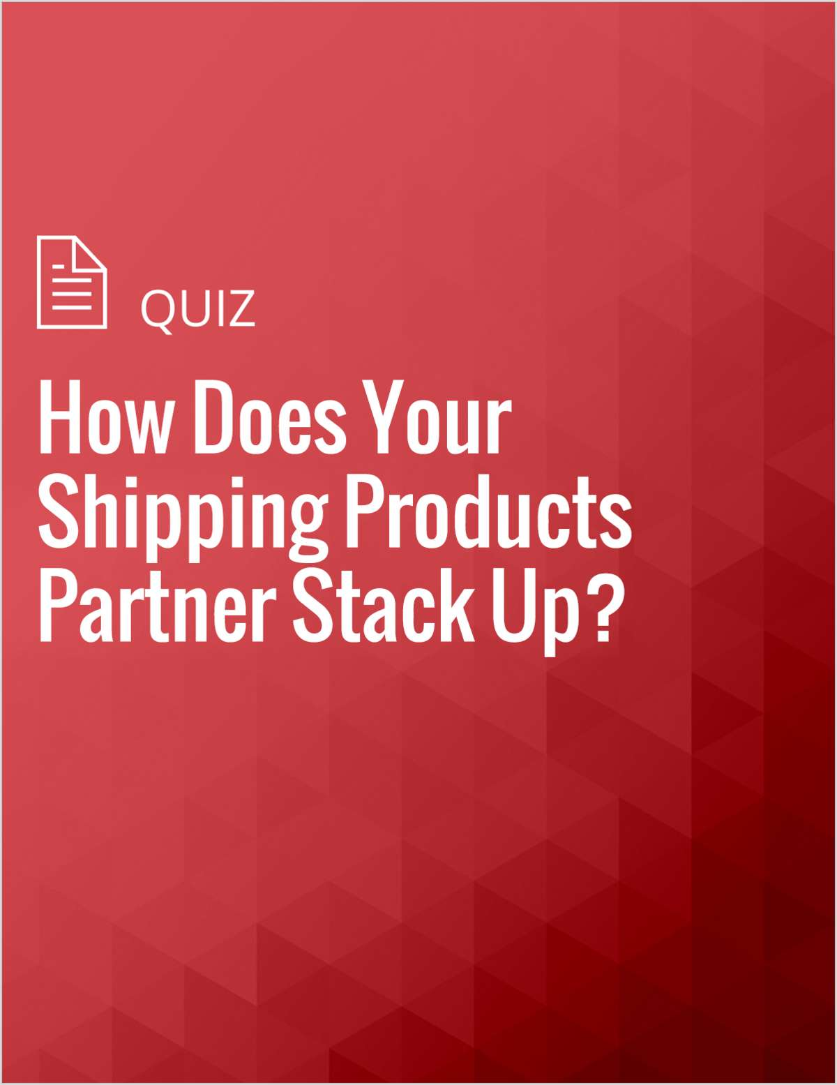 How Does Your Shipping Products Partner Stack Up?