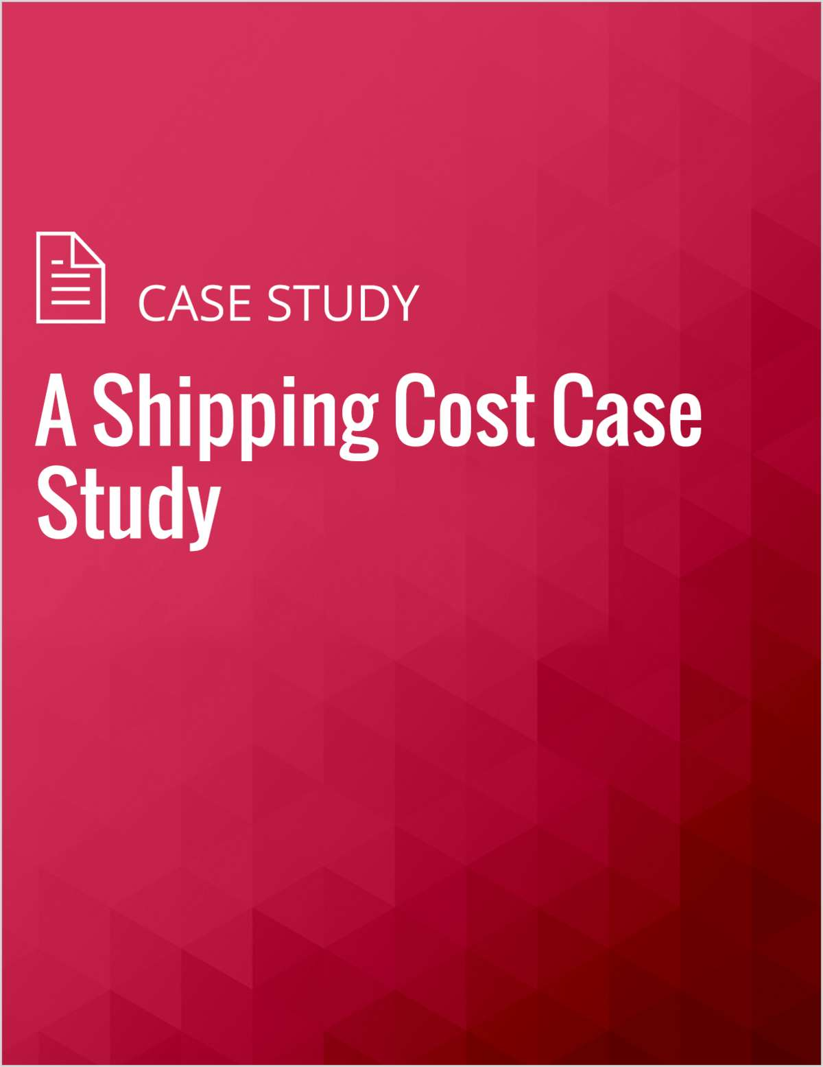 A Shipping Cost Case Study