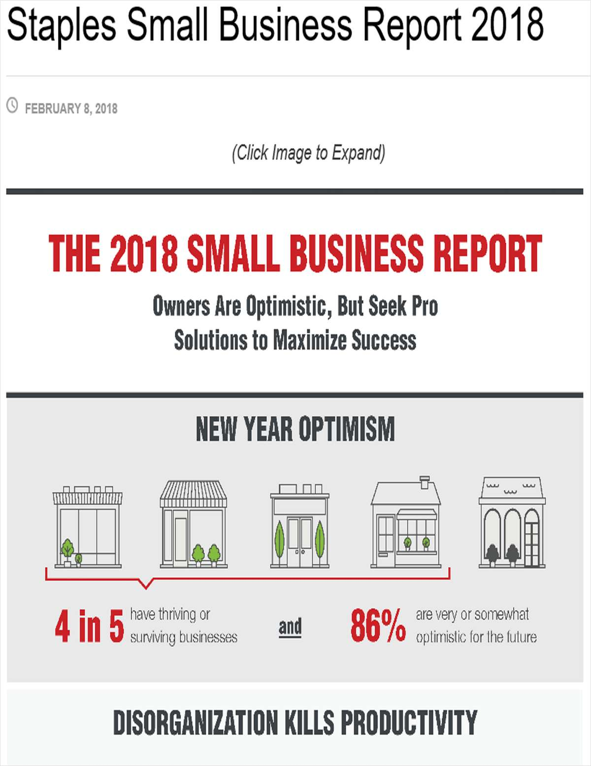 Staples 2018 Small Business Report