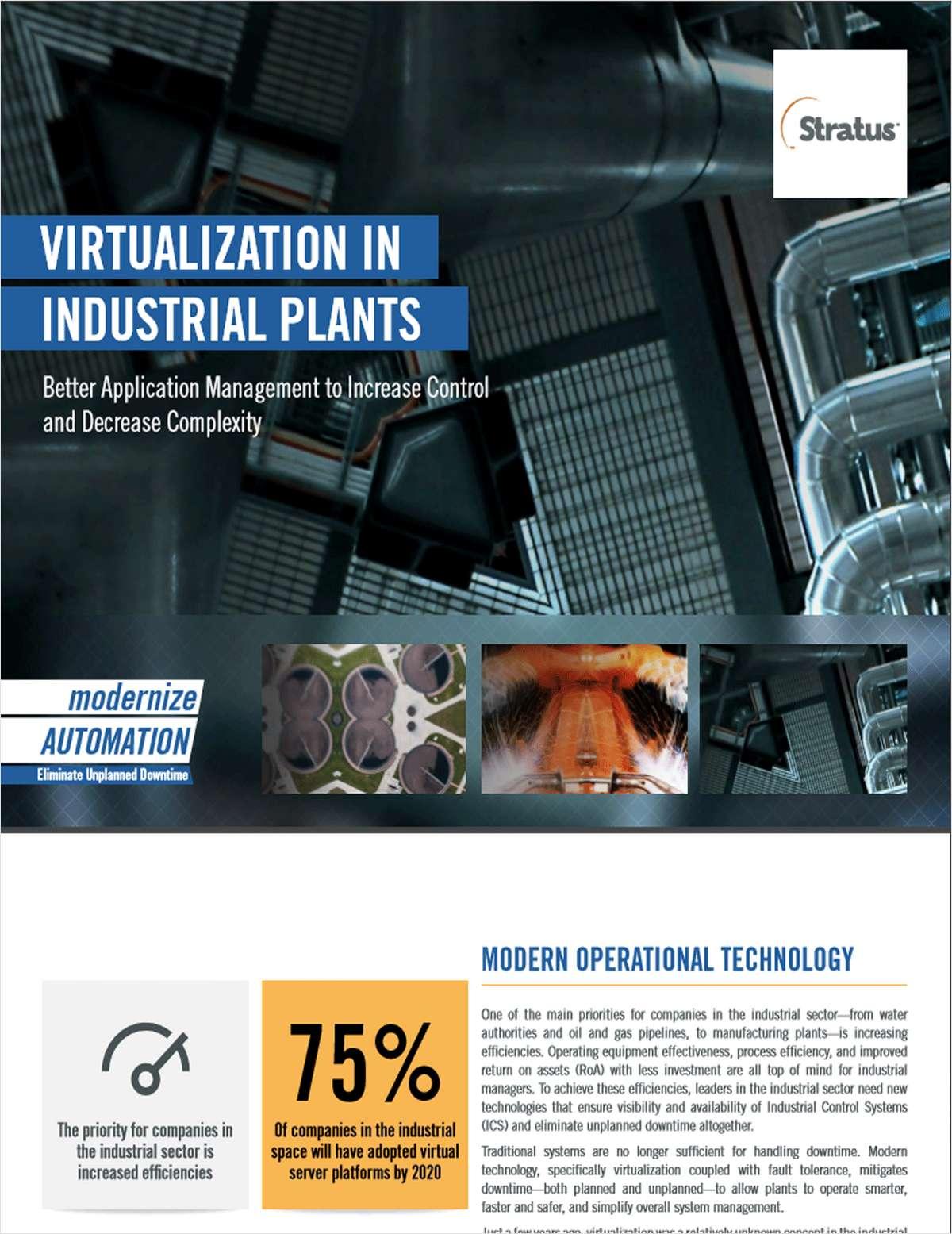 Virtualization in Industrial Plants