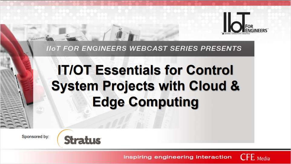 IT/OT Engineer Essentials For Control System Projects With Cloud & Edge Computing