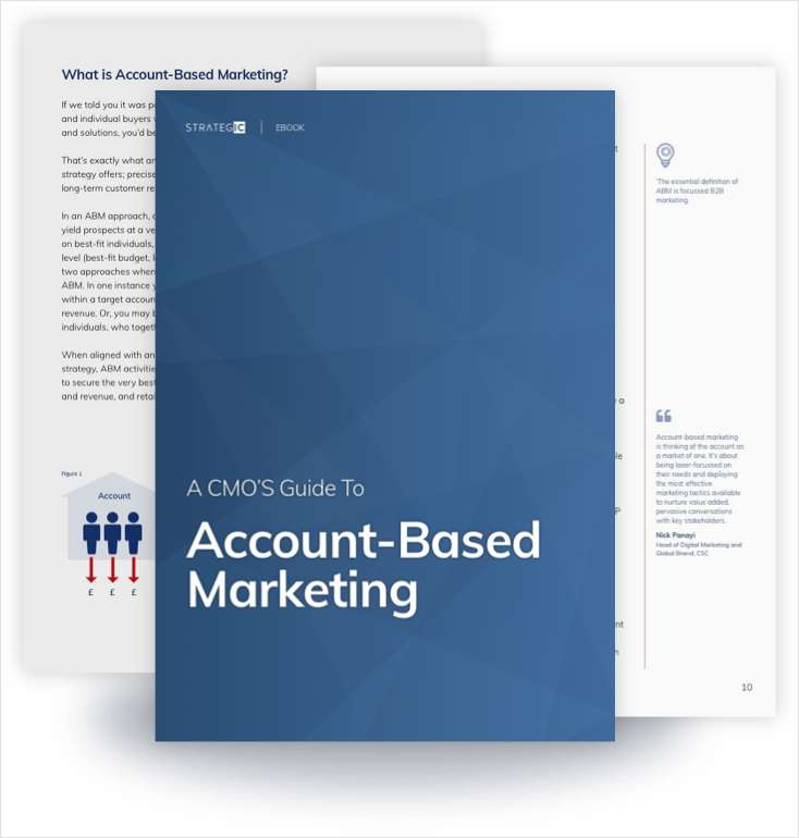 A [CMO's] Guide to Account-Based Marketing