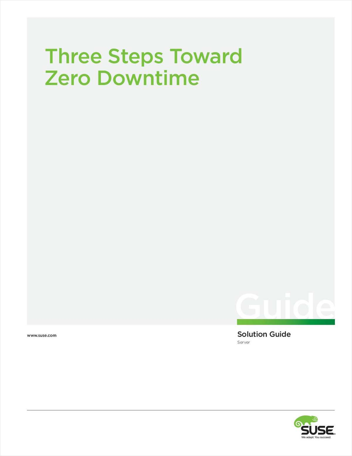 The Three Critical Steps to Achieve Zero Downtime