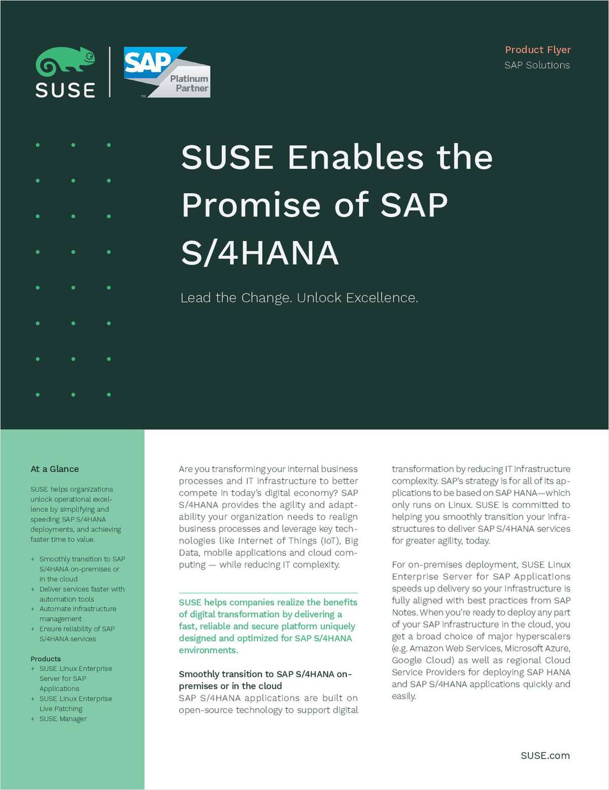 SUSE Enables the Promise of SAP S/4HANA