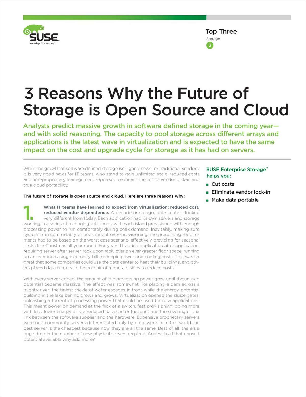 3 Reasons Why the Future of Storage is Open Source and Cloud