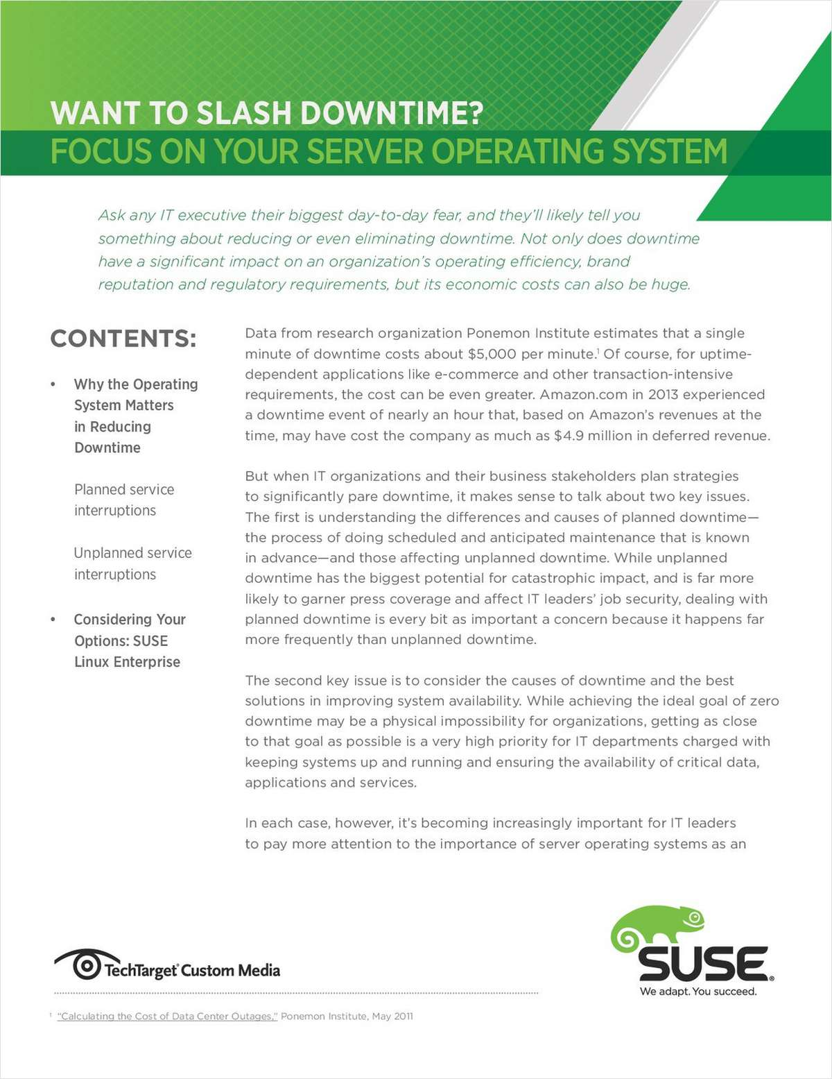 Want to Slash Downtime? Focus on Your Server Operating System