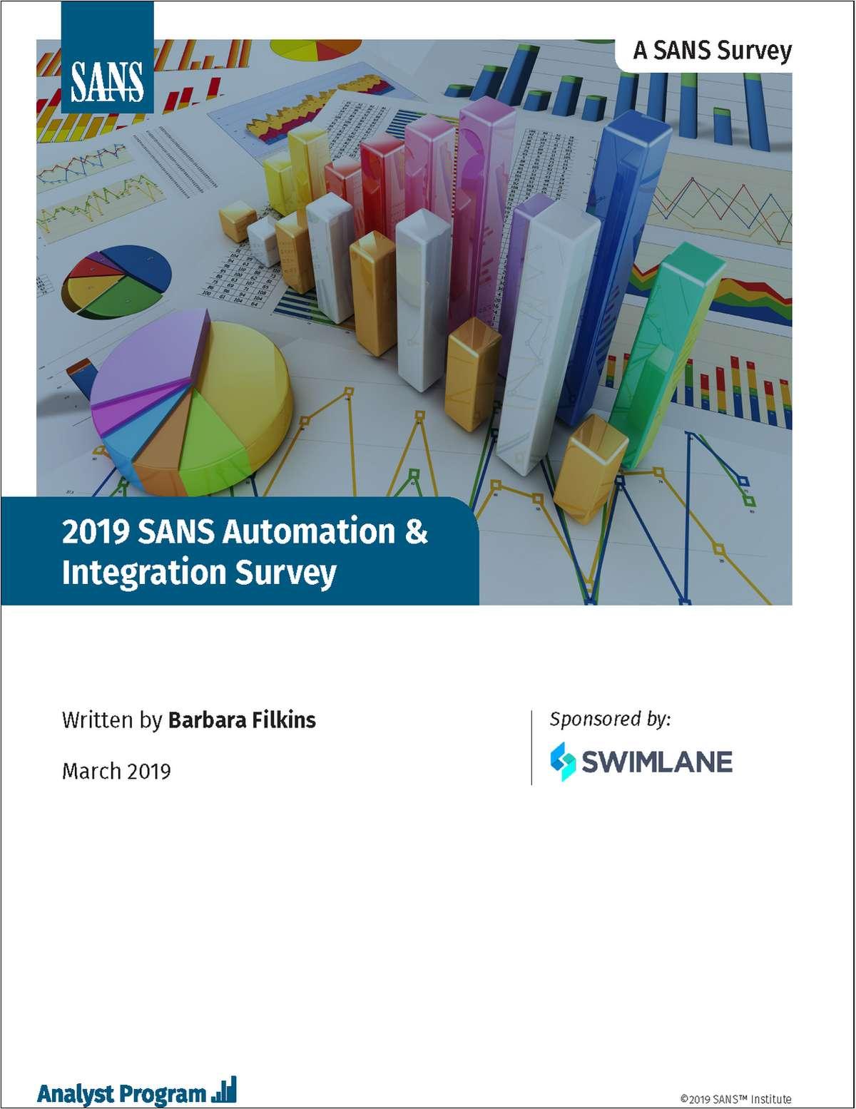 2019 SANS Automation and Integration Survey Report