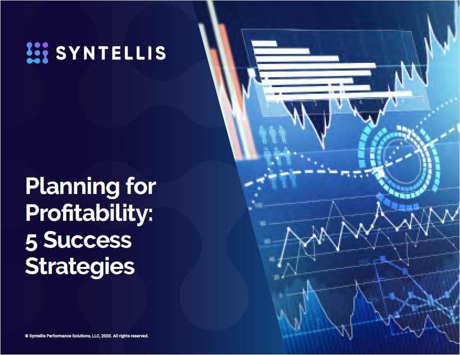Planning for Profitability: 5 Success Strategies