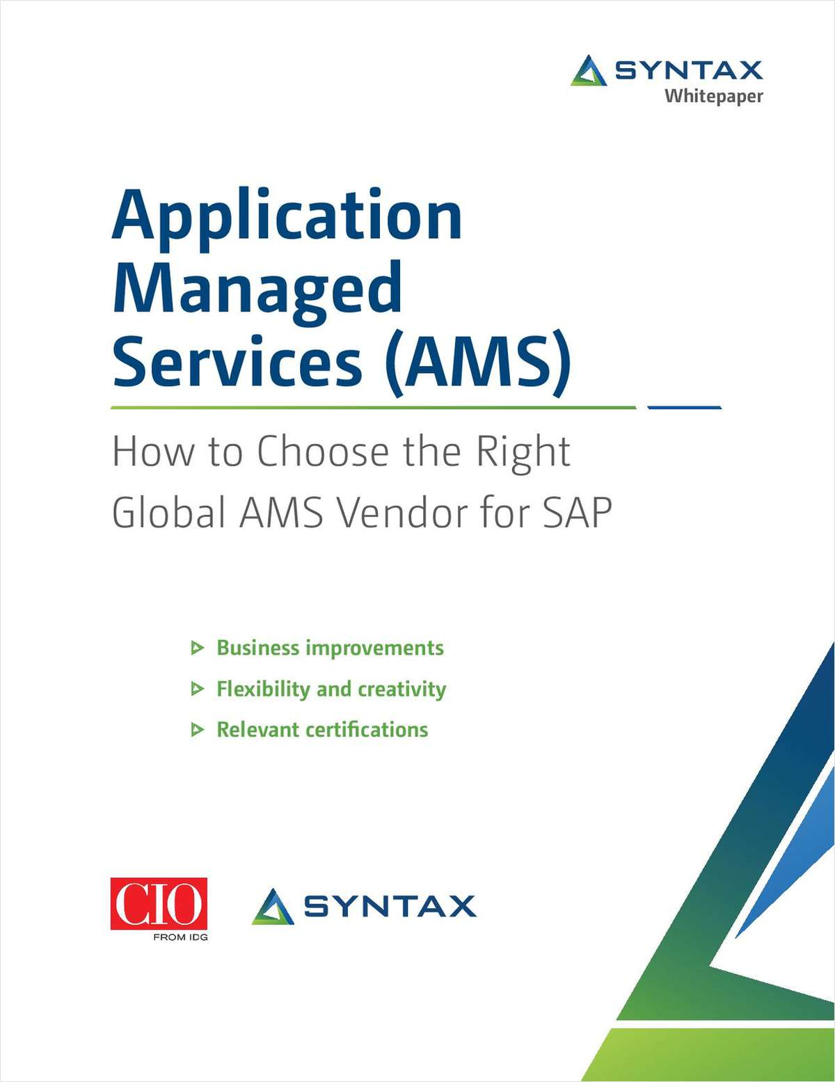 How to Choose the Right Global AMS Vendor for SAP