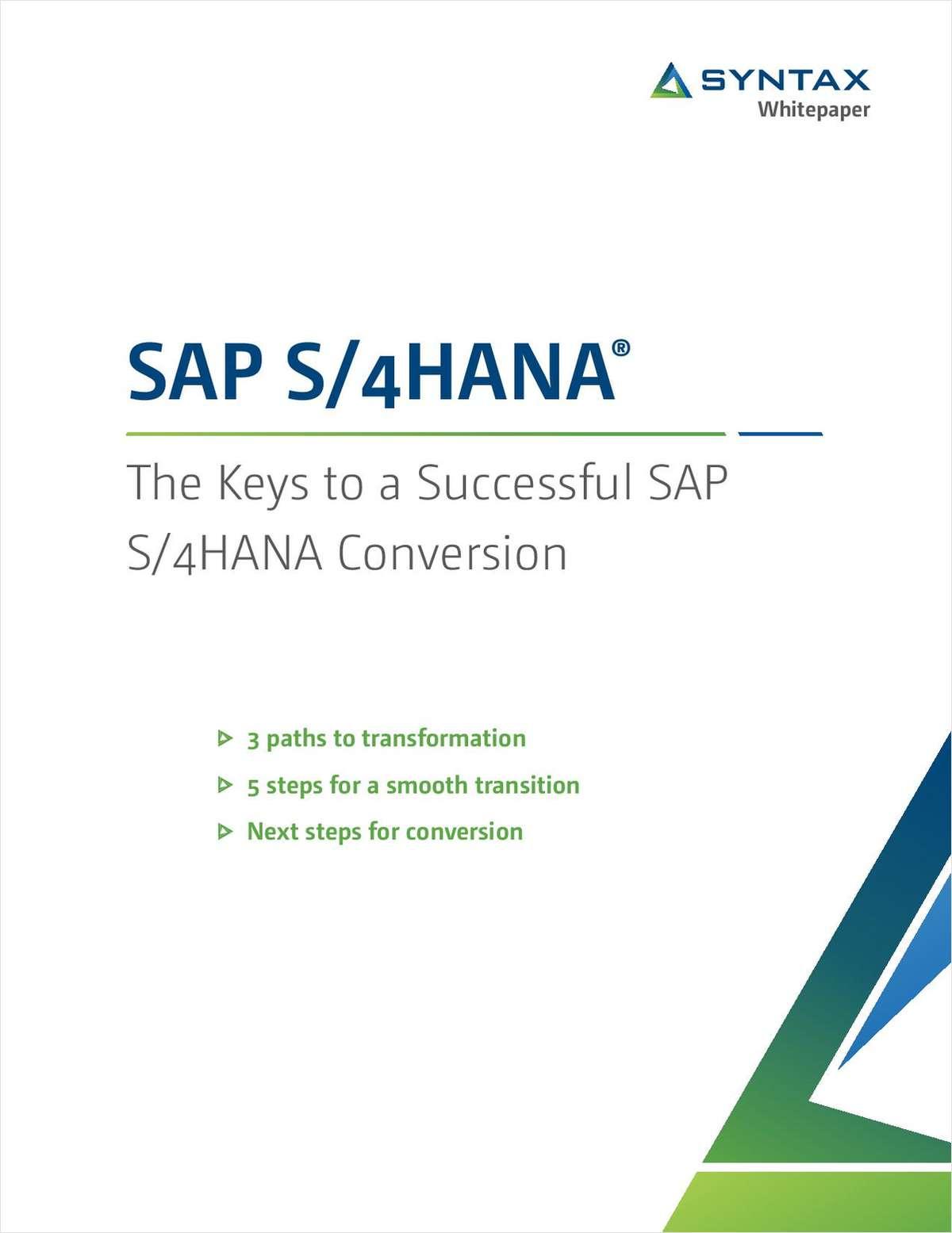 The Keys to a Successful SAP S/4HANA Conversion