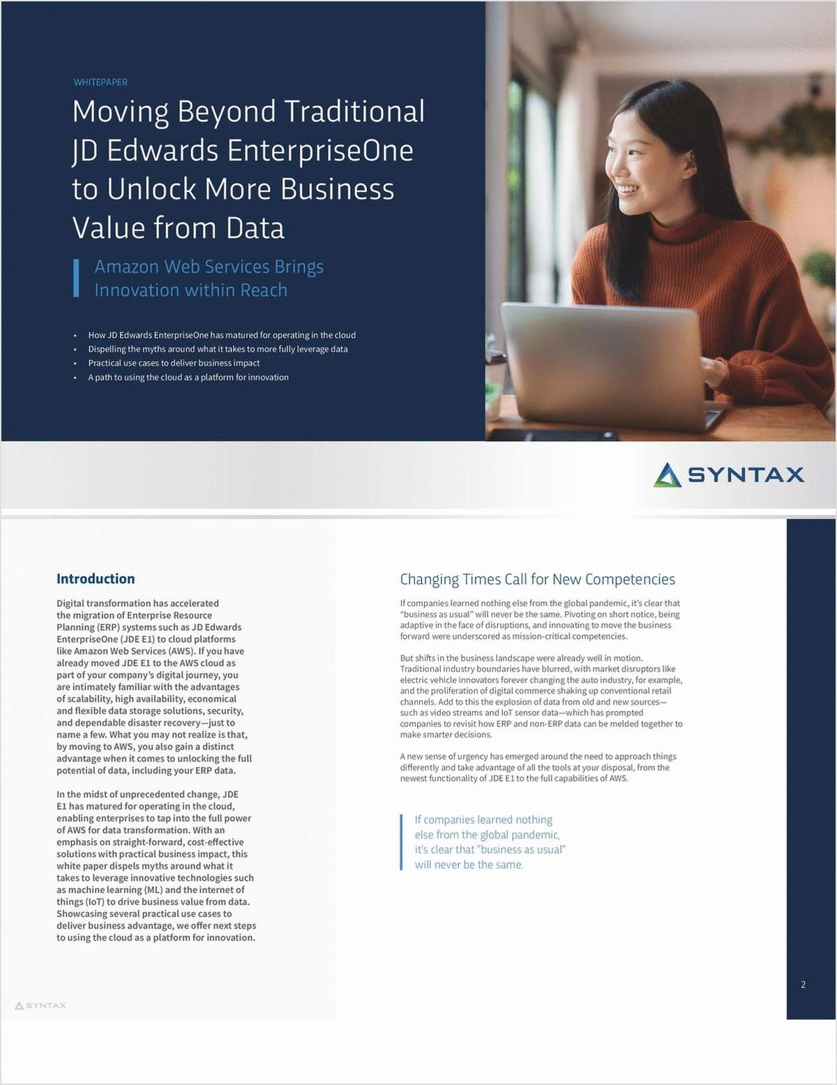 Moving Beyond Traditional JD Edwards EnterpriseOne to Unlock More Business Value from Data