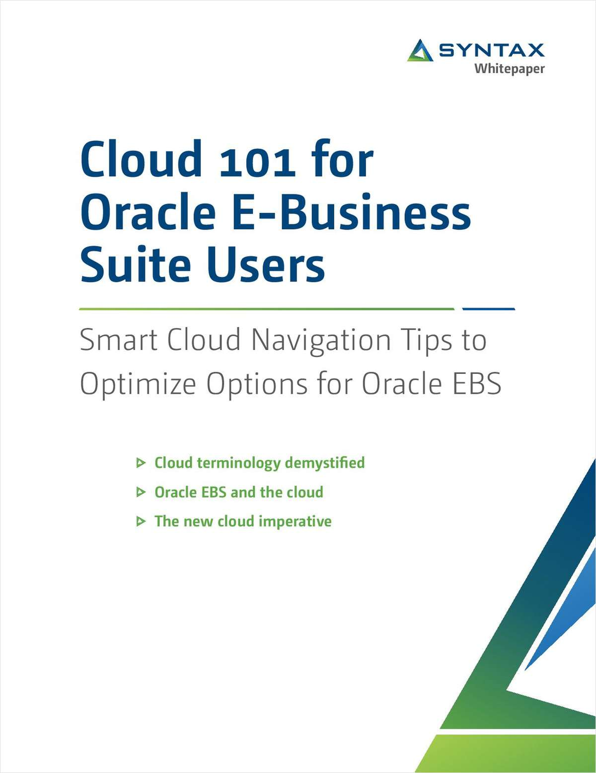 Cloud 101 for Oracle E-Business Suite Users