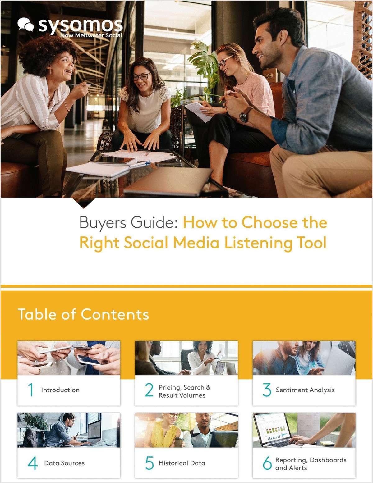 Social Listening Buyers Guide