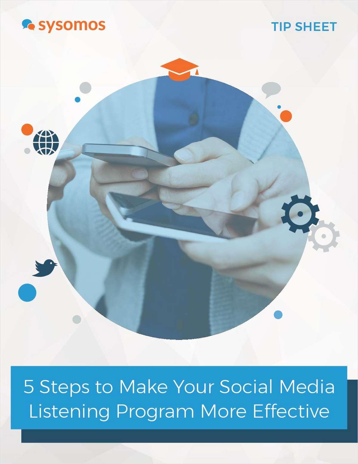 5 Steps to Make Your Social Media Listening Program More Effective