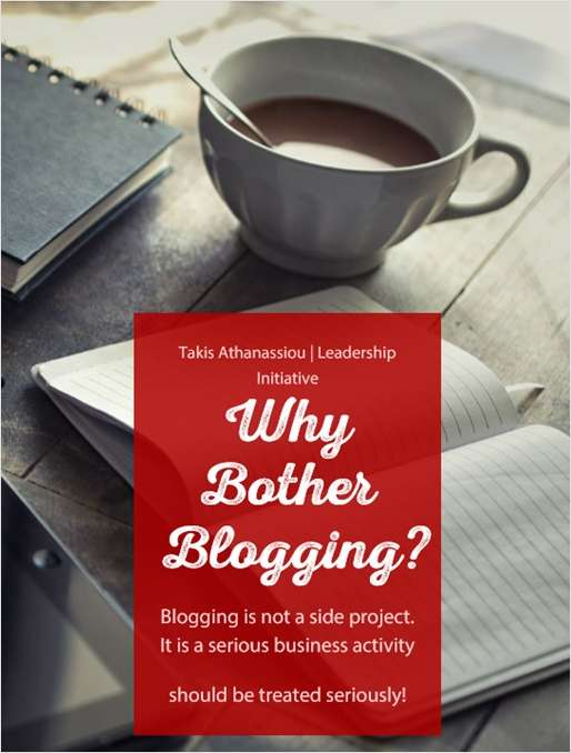 Why Bother Blogging?