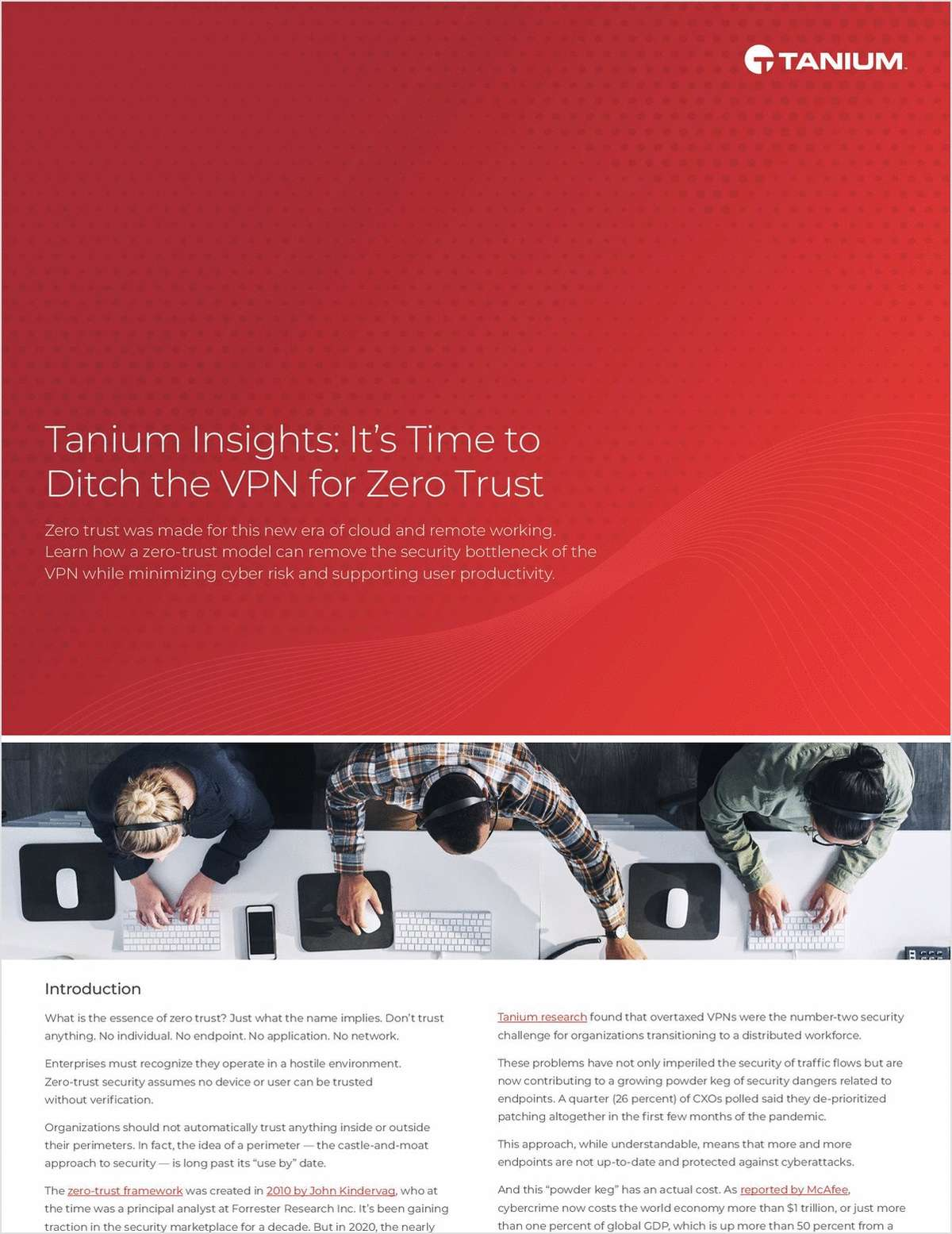 Tanium Insights: It's Time to Ditch the VPN for Zero Trust