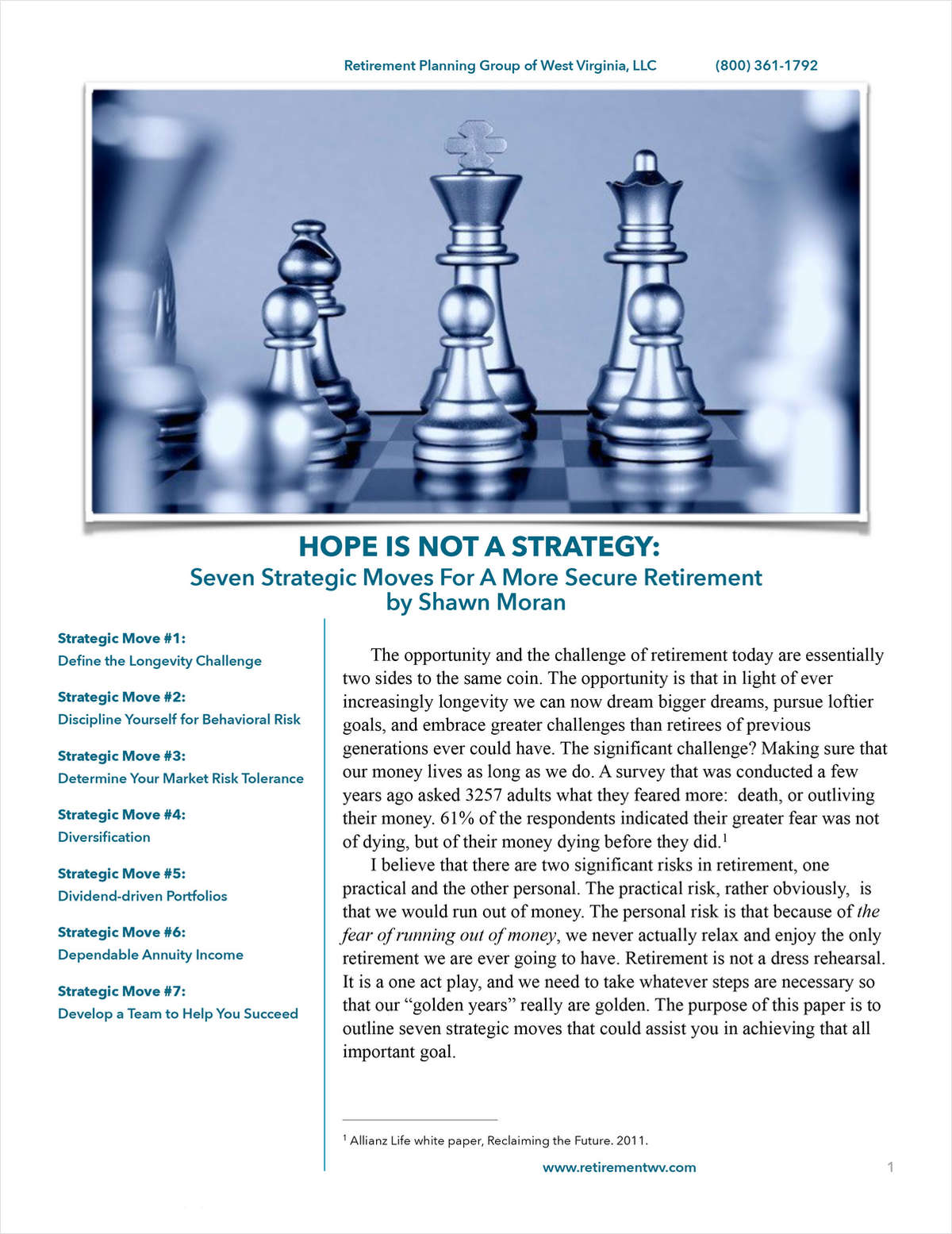 {Client Guide}: Seven Strategic Moves for a More Secure Retirement