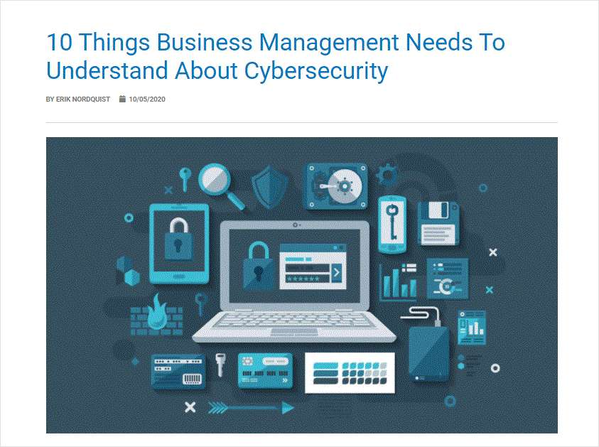 10 Things Business Management Needs To Understand About Cybersecurity