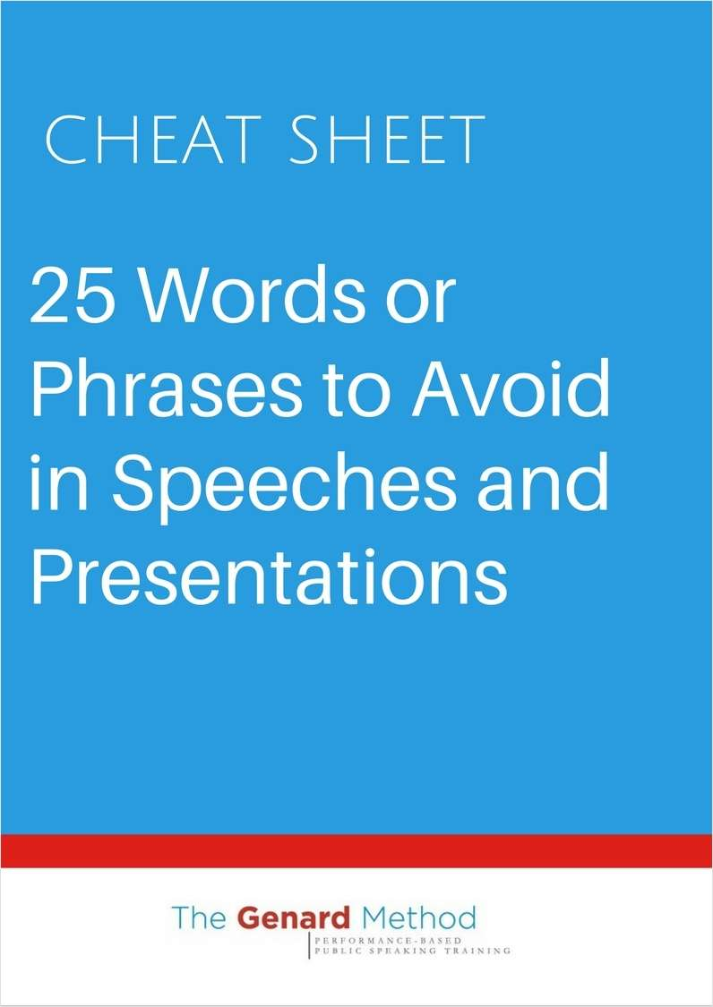 25 Words or Phrases to Avoid in Speeches and Presentations