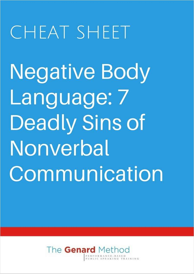 Negative Body Language: 7 Deadly Sins of Nonverbal Communication